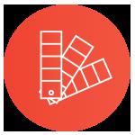 icono naranja de preprensa linegrafic